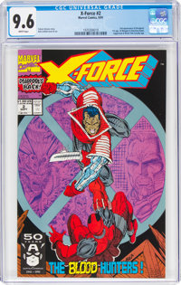 X-Force #2 (Marvel, 1991) CGC NM+ 9.6 White pages