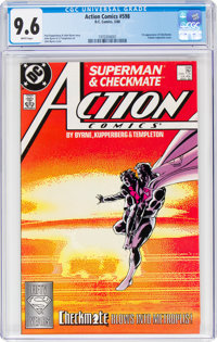 Action Comics #598 (DC, 1988) CGC NM+ 9.6 White pages