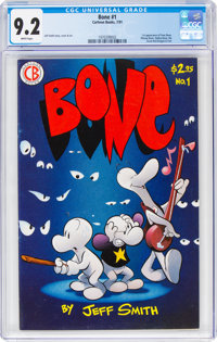 Bone #1 (Cartoon Books, 1991) CGC NM- 9.2 White pages