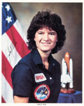 Explorers:Space Exploration, Sally Ride Signed STS-7 Color Photo. ...