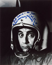 Comedian Bill Dana (as José Jiménez) Signed Astronaut Photo