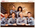 Explorers:Space Exploration, Space Shuttle Discovery (STS-41-D) Crew-Signed Color Photo from the Personal Collection of Mission Specialist Mike...