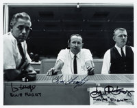 """NASA Mission Control """"Red, White, and Blue"""" Flight Directors (Hodge, Kraft, and Kranz) Signed Photo"""