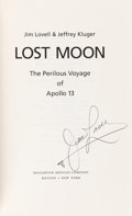 Explorers:Space Exploration, James Lovell Signed Book: Lost Moon. ...