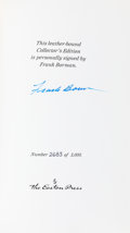 Explorers:Space Exploration, Frank Borman Signed Leather-Bound Limited Edition Book (#2683/3000) Countdown. ...