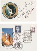 Explorers:Space Exploration, Apollo 12: Two Crew-Signed Philatelic Items. ... (Total: 2 Items)