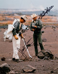 Explorers:Space Exploration, Apollo 13: Geologic Training Color Photo Signed by James Lovell and Fred Haise....