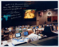 Explorers:Space Exploration, Apollo 13: NASA Mission Control Color Photo Signed by Fred Haise and Gene Kranz. ...