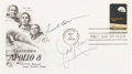 """Explorers:Space Exploration, """"Apollo 8"""" Stamp First Day Cover Signed by Frank Borman and James Lovell. ..."""