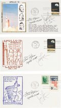 Explorers:Space Exploration, Apollo 13: Launch Covers (Three Different) Signed by James Lovell and Fred Haise. ...