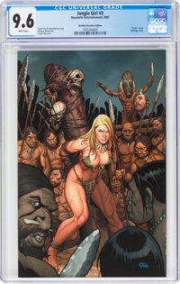 Jungle Girl #3 Virgin Variant (Dynamite Entertainment, 2007) CGC NM+ 9.6 White pages