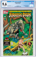 Modern Age (1980-Present):Science Fiction, Jurassic Park #1 (Topps Comics, 1993) CGC NM+ 9.6 White pages....