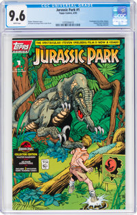 Jurassic Park #1 (Topps Comics, 1993) CGC NM+ 9.6 White pages