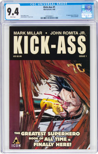 Kick-Ass #1 (Marvel/Icon, 2008) CGC NM 9.4 White pages