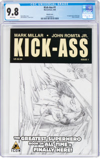 Kick-Ass #1 Sketch Cover (Marvel/Icon, 2008) CGC NM/MT 9.8 White pages