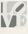 Prints & Multiples, Robert Indiana (1928-2018). One Plate, from Book of Love, 1996. Screenprint in colors A.N.W. Crestwood Museum Editio...