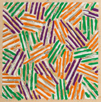 Jasper Johns (b. 1930) Untitled, 1977 Screenprint in colors on parchment paper 10 x 10 inches (25