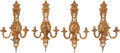 Lighting, A Set of Four French Gilt Bronze Sconces, 19th century. 29 x 14 x 10 inches (73.7 x 35.6 x 25.4 cm). ... (Total: 4 )