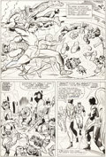 Original Comic Art:Panel Pages, Jack Kirby and Chic Stone X-Men #10 Story page 19 Original Art (Marvel, 1965)....