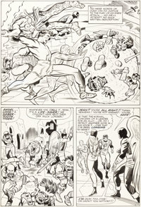 Jack Kirby and Chic Stone X-Men #10 Story page 19 Original Art (Marvel, 1965)