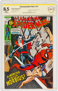 The Amazing Spider-Man #101 Signature Series - Roy Thomas (Marvel, 1971) CBCS VF+ 8.5 White pages
