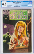 Bronze Age (1970-1979):Horror, House of Secrets #92 (DC, 1971) CGC VG+ 4.5 Off-white to white pages....