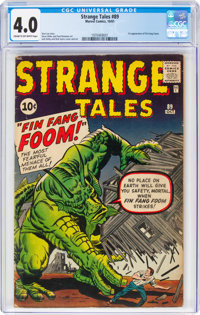 Strange Tales #89 (Marvel, 1961) CGC VG 4.0 Cream to off-white pages
