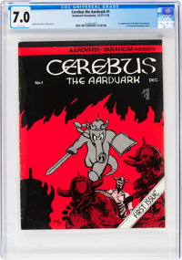 Cerebus the Aardvark #1 (Aardvark-Vanaheim, 1977) CGC FN/VF 7.0 White pages