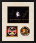 Explorers:Space Exploration, Apollo 13: Damaged Service Module Color Photo Signed by Mission Commander James Lovell and Flight Director Gene Kranz (with Ad...