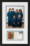 Explorers:Space Exploration, NASA's First Six Female Astronauts: Signed First Day Cover Matted and Framed with a Color Photo. ...