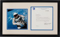 Explorers:Space Exploration, Edward White II Typed Letter Signed Matted and Framed with Gemini 4 EVA Color Photo....