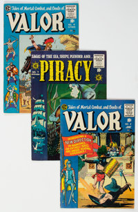 Piracy/Valor Group of 8 (EC, 1954-55) Condition: Average VG/FN.... (Total: 8)