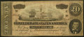 Confederate Notes:1864 Issues, Advertising Note T67 $20 1864 Very Fine.. ...