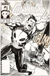 Klaus Janson The Punisher #4 Cover Original Art (Marvel, 1987)