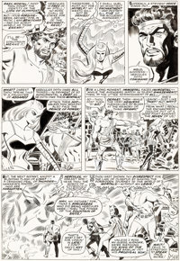 Don Heck and George Roussos (as George Bell) The Avengers #38 Story Page 19 Original Art (Marvel, 1967)
