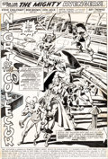 Original Comic Art:Splash Pages, Bob Brown and Don Heck The Avengers #119 Splash Page 1 Loki Original Art (Marvel, 1974)....