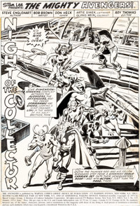 Bob Brown and Don Heck The Avengers #119 Splash Page 1 Loki Original Art (Marvel, 1974)
