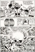 Original Comic Art:Panel Pages, Jim Starlin and Joe Rubinstein Marvel Two-In-One Annual #2 Story Page 5 Thanos Original Art (Marvel, 1977)....
