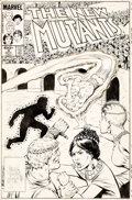 Original Comic Art:Covers, Bob McLeod New Mutants #9 Cover Original Art (Marvel, 1983)....
