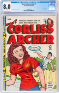 Golden Age (1938-1955):Humor, Meet Corliss Archer #1 (Fox, 1948) CGC VF 8.0 Off-white to white pages....