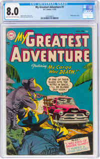 My Greatest Adventure #1 (DC, 1955) CGC VF 8.0 Light tan to off-white pages