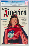 Golden Age (1938-1955):Superhero, Miss America Magazine V1#2 Carson City Pedigree (Miss America Publishing, 1944) CGC NM 9.4 Off-white pages....