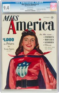 Miss America Magazine V1#2 Carson City Pedigree (Miss America Publishing, 1944) CGC NM 9.4 Off-white pages
