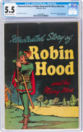 Golden Age (1938-1955):Adventure, Classics Giveaways Robin Hood and His Merry Men (Gilberton, 1944) CGC FN- 5.5 Off-white to white pages....