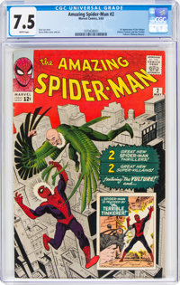 The Amazing Spider-Man #2 (Marvel, 1963) CGC VF- 7.5 White pages