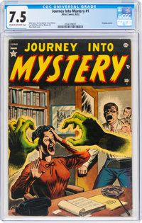 Journey Into Mystery #1 (Atlas, 1952) CGC VF- 7.5 Cream to off-white pages