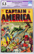 Golden Age (1938-1955):Superhero, Captain America Comics #3 (Timely, 1941) CGC Apparent FN- 5.5 Slight (B-1) Cream to off-white pages....