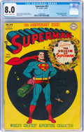 Golden Age (1938-1955):Superhero, Superman #53 (DC, 1948) CGC VF 8.0 Off-white to white pages....