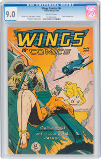 Wings Comics #94 (Fiction House, 1948) CGC VF/NM 9.0 Off-white pages