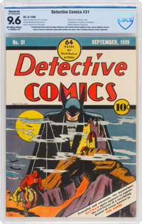 Detective Comics #31 (DC, 1939) CBCS Restored (Extensive Professional) NM+ 9.6 Off-white to white pages